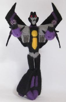 Needle Felted TFA Skywarp by GlassCamel