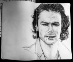 Pencil: Aidan Turner,  Moleskine Notebook by SHParsons