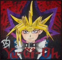 YUGIOH: Yami Yugi Painted Ceiling Tile by LionessGamer