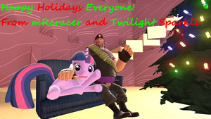 Happy Holidays from mRcracer and Twilight Sparkle by mRcracer