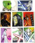 starwars cards 2011 3C by TomKellyART