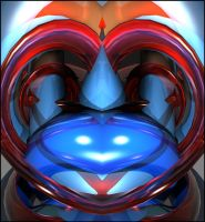 Red Blue Heart by Topas2012