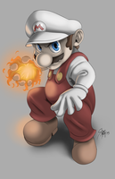 Mario Fire Power by Dranos