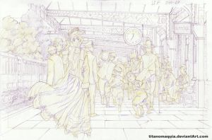 At the Station - Layout 2010 by titanomaquia