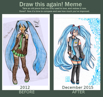 Draw this again ! Meme (Hatsune Miku 2012-2015) by Keylhen