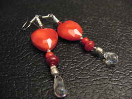 Red Holiday Love Earrings by sampdesigns