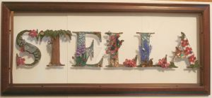 STELLA Paper Quilling Name Plate by wholedwarf