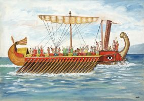 roman galley trireme by Sedeslav