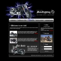 Motorcycle web site template by Player-Designer