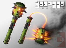 Grineer Mace/Flail by Studio4productions