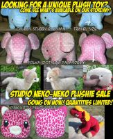 Plush Sale at Studio Neko-Neko by StudioNeko