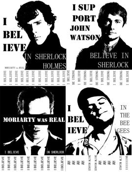 Believe in Sherlock Posters by kkbook