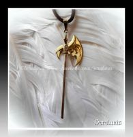 'Might and Magic' handmade halberd pendant by seralune