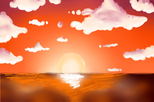 Background practice by AmazingGlideh