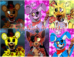 ALL Five Nights At Freddys Characters +Some Gore by darkcat1999