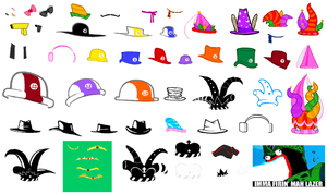 Homestuck Accessories Sprite Sheet by blahjerry