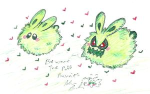 Puff Ball Bunnies by Kittychan2005