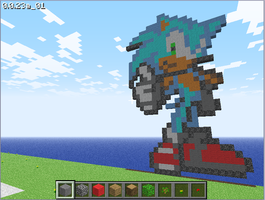 Minecraft Sonic by TheCorrupted