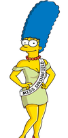 Marge as the new Miss Springfield by darthraner83