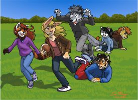 Fun and Games: Football kids by RuntyTiger