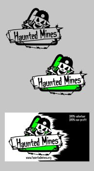 Haunted Mines Logo and Business Card by AnnieLH