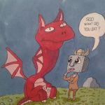 Carl the Robot and his dragon by trentpower