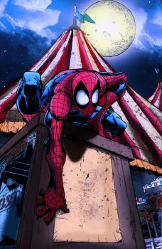 Marvel Adventures Spidey COLOR by xXang3leyesXx