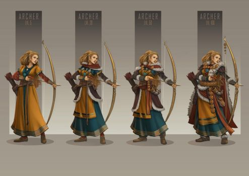 Archer Character Design by AkiiRaii