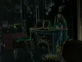 My psychedelic bedroom by Bast68
