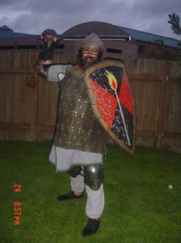 me in armour for the SCA by Skyedancer