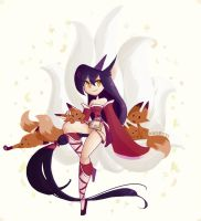 Ahri by inkinesss