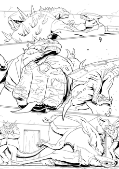 Mobzilla Test Page - Godzilla Punches a MUTO by A3DNazRigar