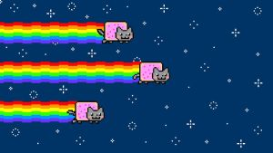 Nyan Cat Background by HeadPikachu