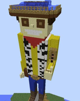 Giant Minecraft Woody by WiiBrawler