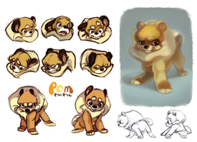 Pomeranian Character Design Pg1 by kimchii