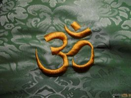 Embroidered OM by gishzida