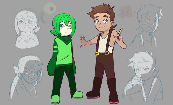 SepticChild Sam + Tiny Boy Tim by DatWeirdoWhoLuvsMilk