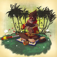 Wukong's tranquility corner by Konnestra