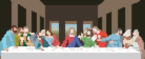 8 Bit Last Supper by dnobody