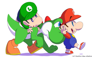 Baby Steps, Mario and Luigi by faster-by-choice
