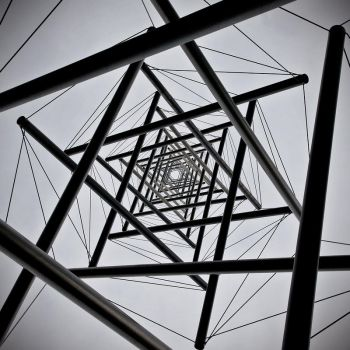 Tube and wire tower by starsofglass