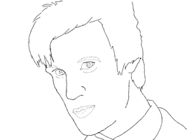 Doctor Who Lineart by iMonstar-Chan