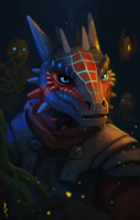 Commission: Argonian by Brevis--art