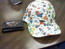 My new wallet and cap by elfofcourage