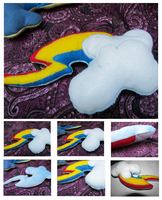 Rainbow Dash Cutie Mark Plush Pillow by buttsnstuff