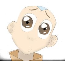 Aang sketch coloured by laydiKroft