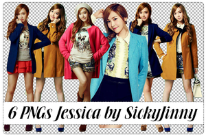 Pack 6 PNGs Jessica by SickyJinny
