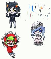 copic chibis c: by Silverrwind