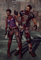 Chris and Sheva Zombies by JhonyHebert