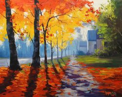 Autumn Street Scene by artsaus